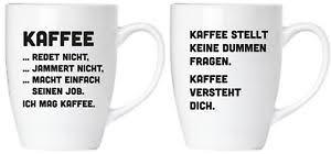 2er Set Lustige Sprüche Kaffee Jammert Nicht Becher Tassen