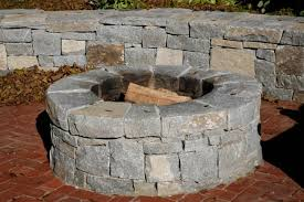 outdoor wood burning masonry firepit kit