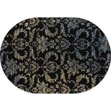 art carpet bastille victorian navy 4 ft x 6 ft oval area rug