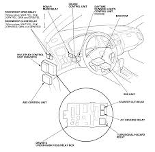 where is the fuel pump relay located on a honda accord 1999 graphic