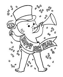 Small Picture Cute Baby New Years Eve in Action on 2015 New Year Coloring Page