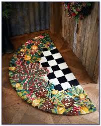mackenzie childs rug fish rugs poppy bath