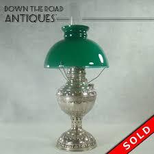 miller dresden kerosene lamp with emeralite green shade