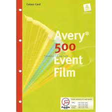 Avery Event Tickets Avery 500 Event Film Colour Chart