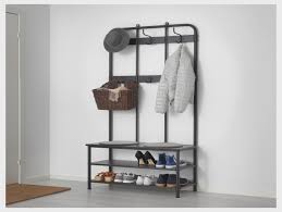 Coat And Shoe Rack MACKAPÄR Coat rack with shoe storage unit 100x100 cm IKEA Shoe 79