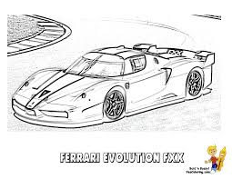Pictures Of Ferrari Fxx Coloring Pages Rock Cafe