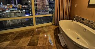 aria tower suite las vegas jetted tub view