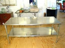 commercial kitchen islands full size of stainless steel table wood and metal dining island bench cabinets