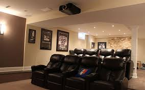 basement home theater.  Theater By Pure Custom Integrations Inside Basement Home Theater R