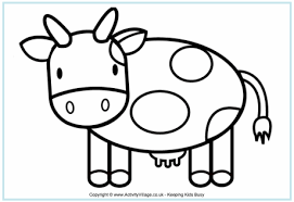 Small Picture Cow Colouring Pages
