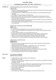 Mechanical Maintenance Resume Sample Mechanical Maintenance Resume Samples Velvet Jobs 8