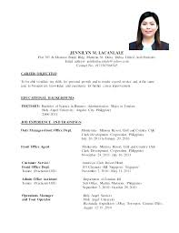 10 Example Of Resume To Apply Job Rustictavernlafayette