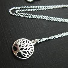 tree of life charm circle pendant chain necklace in solid 925 sterling silver top gifts 2018