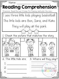 Kindergarten Reading Comprehension Worksheets Pdf Phonics for ...