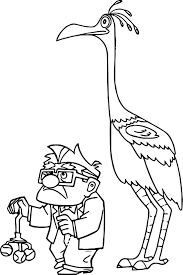 Kevin From Up Coloring Pages