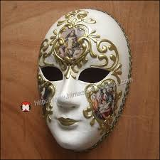 Decorative Venetian Wall Masks Party Venice Venetian Music Masquerade Full Face Musical Silver 12