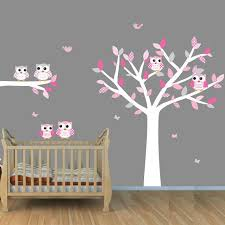 owl wall decals for nursery owl tree wall decals white tree wall stickers with owls and