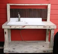 Kitchen Sink Furniture Outdoor White Portable Outdoor Kitchen Sink For Backyard Patio