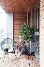 Balcony design with black metal railing