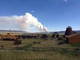 lake owen fire from centennial wy wyoming lake owen fire from centennial wy