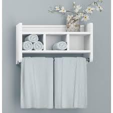 white bathroom wall shelf unit image