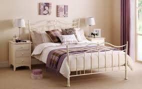 White Metal Bed Frame Furniture