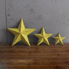 decorative nostalgic outdoor star wall