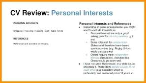 Hobbies For Resume Gorgeous Interests For Resume Hobbies And Cv Sample Of On A Best Personal