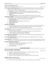2 - School Counselor Resume