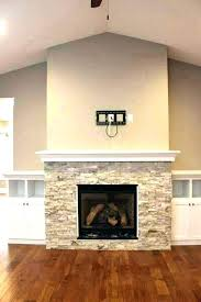 painting rock fireplaces a fireplace painted faux paint cast stone chalk built shelving bersome