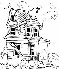 Small Picture Haunted House Coloring Page chuckbuttcom