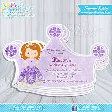 sofia party invitations princess the first princess cut