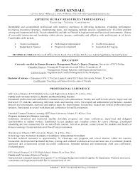 Human Resource Resume Objective Human Resource Resume Skills Foodcityme 57