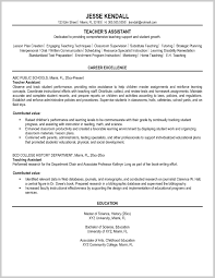 Terrific Resume Examples For Teacher Assistant 205584 Resume