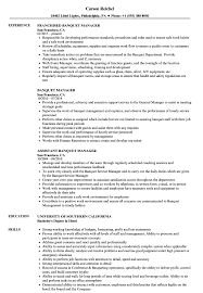 Banquet Manager Resume Banquet Manager Resume Samples Velvet Jobs 1