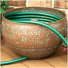 garden hose storage pot. Garden Hose Pot With Lid Holders Hammered Copper Holder S Storage .