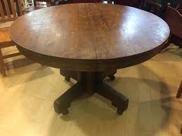 antique pedestal tiger oak round pedestal table mint condition vintage antique pedestal fan