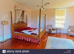 Southern Bedroom Bed Typical Of The 1800s In Bedroom Of The Orman House Historic