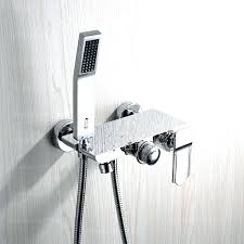 bathtub faucet with handheld shower amazing tub hand chrome finish single handle wall mount in 18