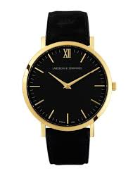 the best black leather strap watches in store now the idle man larsson jennings black watch men