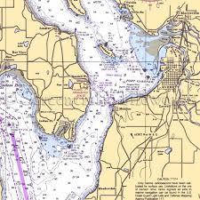 Washington Mukilteo Puget Sound Nautical Chart Decor