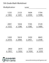 5th Grade Math Worksheets Multiplication Best 25 Multiplication ...