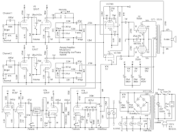 looking at an ampeg gemini 1 a bit of a mosh pit of tubes in there 6cg7 two stage reverb driver a not inexpensive 7199 phase inverter driver and a pair of 7591s out cathode bias