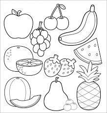 Bộ sưu tập tranh tô màu rau củ quả, trái cây thơm ngon đẹp mắt