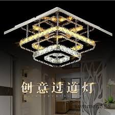 modern crystal led ceiling lights fixture square led chandelier lamp for home