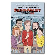 Silicon Valley Series Silicon Valley Season 4 Tv Series Wall Sticker Home Decoration Silk Art Poster