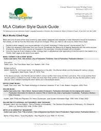 Top Five Mla Works Cited Page Basic Format Example Circus