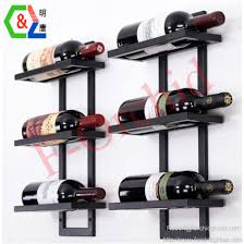 wall mounted stainless steel wine rack