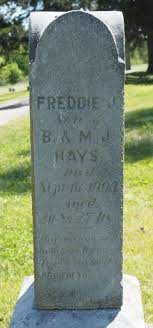 "Frederick J. ""Freddie"" Hays (1883-1903) - Find A Grave Memorial"