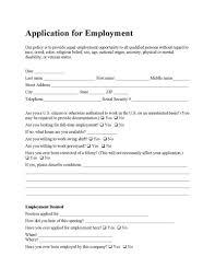 Employee Application Form Free Printable Free Employee Application Form